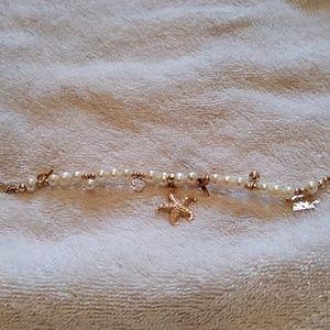 Jewelry - 14k Pearl bracelet with charm's